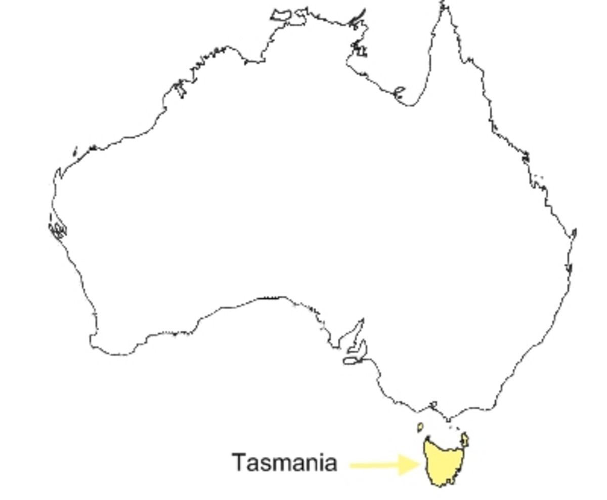 clipart map of tasmania - photo #24
