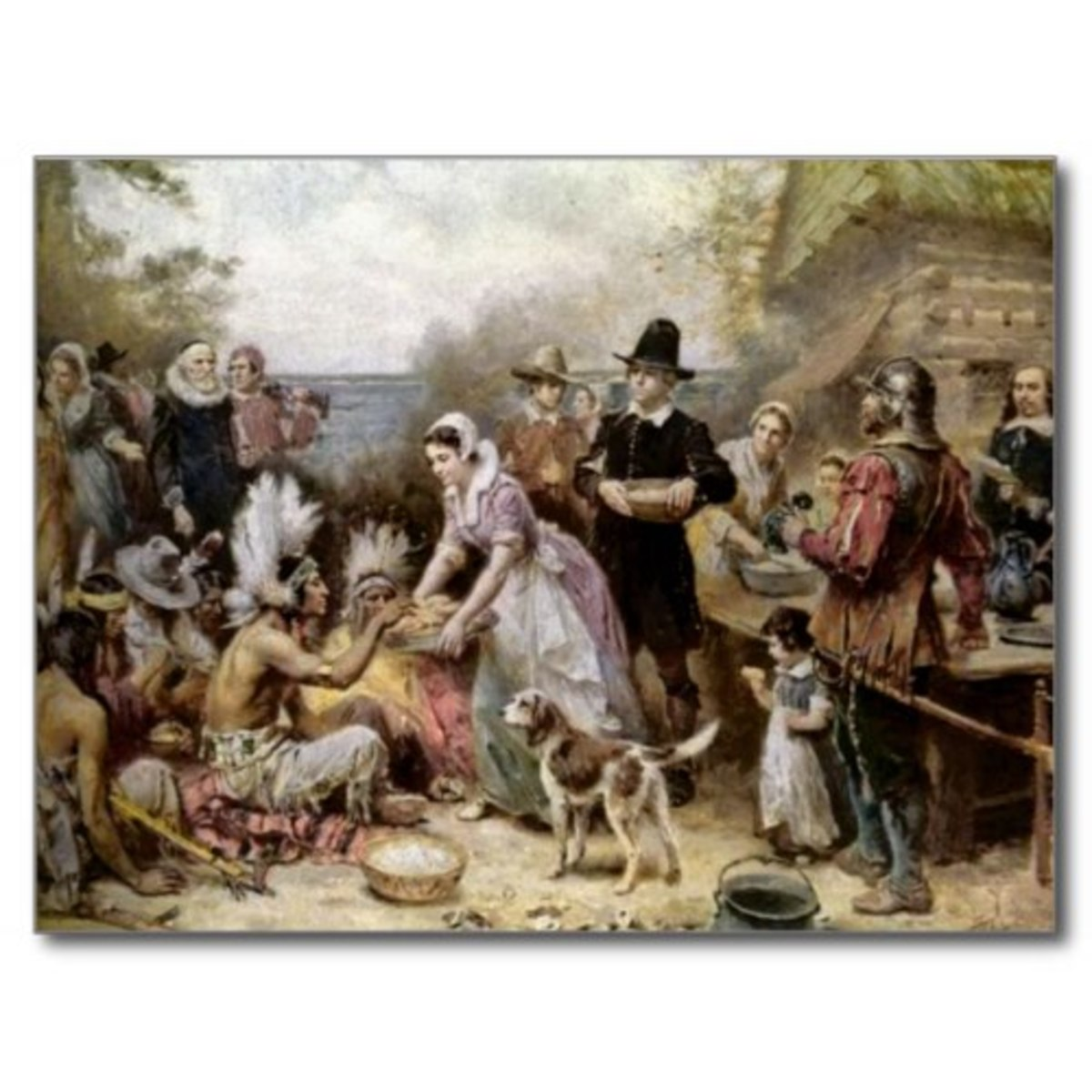 The First Thanksgiving Vintage Painting