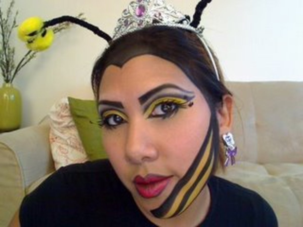 Bumble Bee Makeup http://answers.yahoo.com/question/index?qid=20091030041621AANti9f