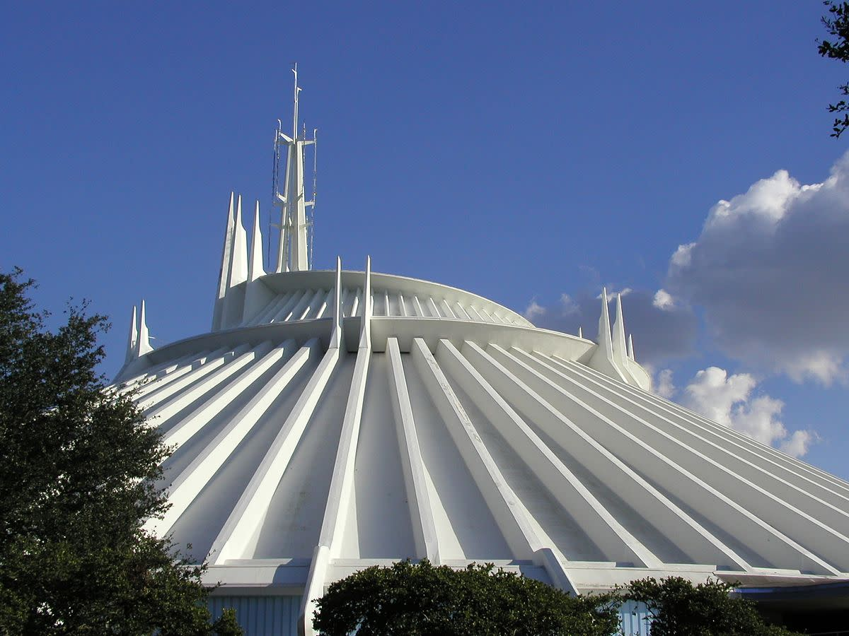 Space Mountain at the Magic Kingdom in Walt Disney World.