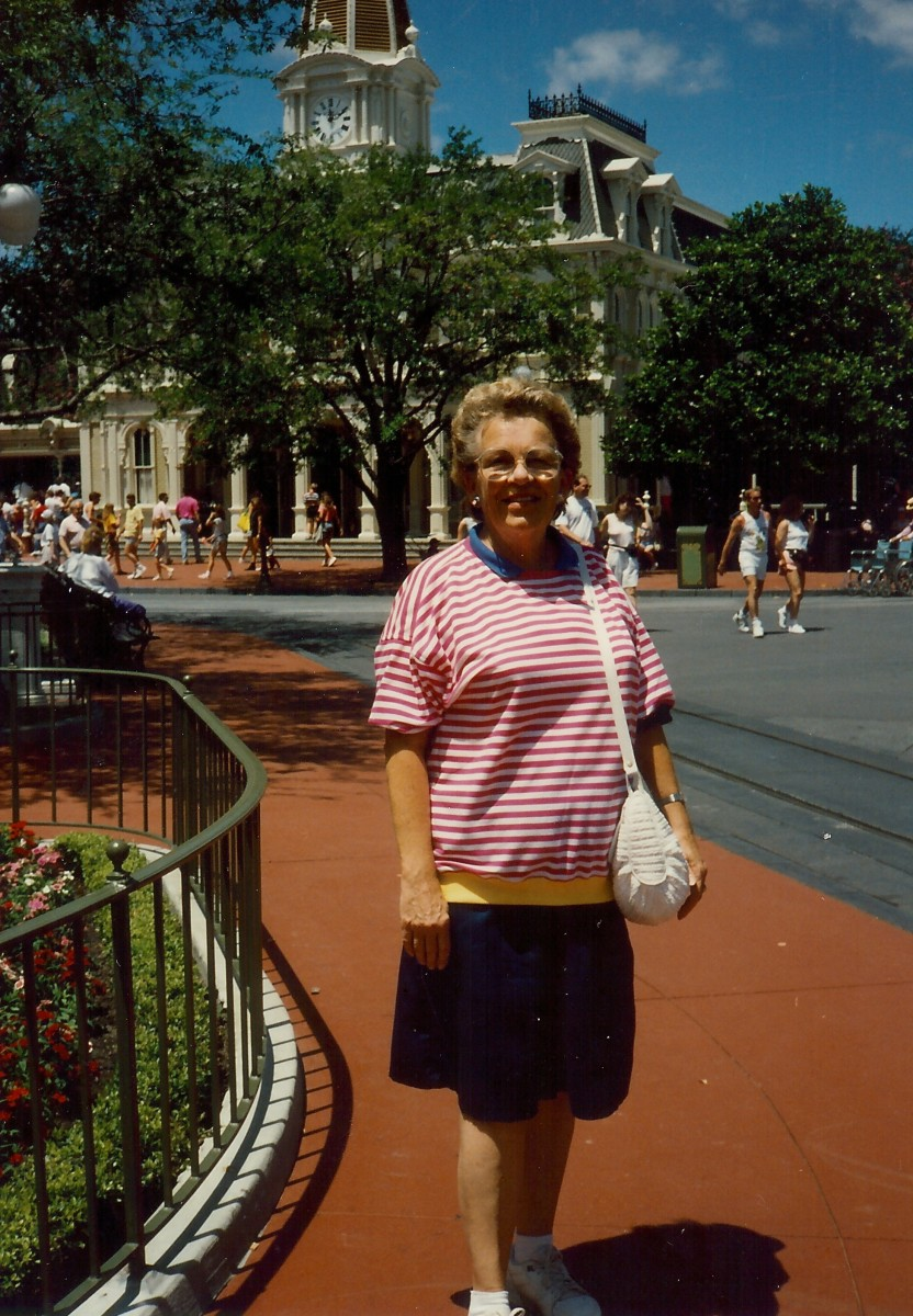 My mother on Main Street USA