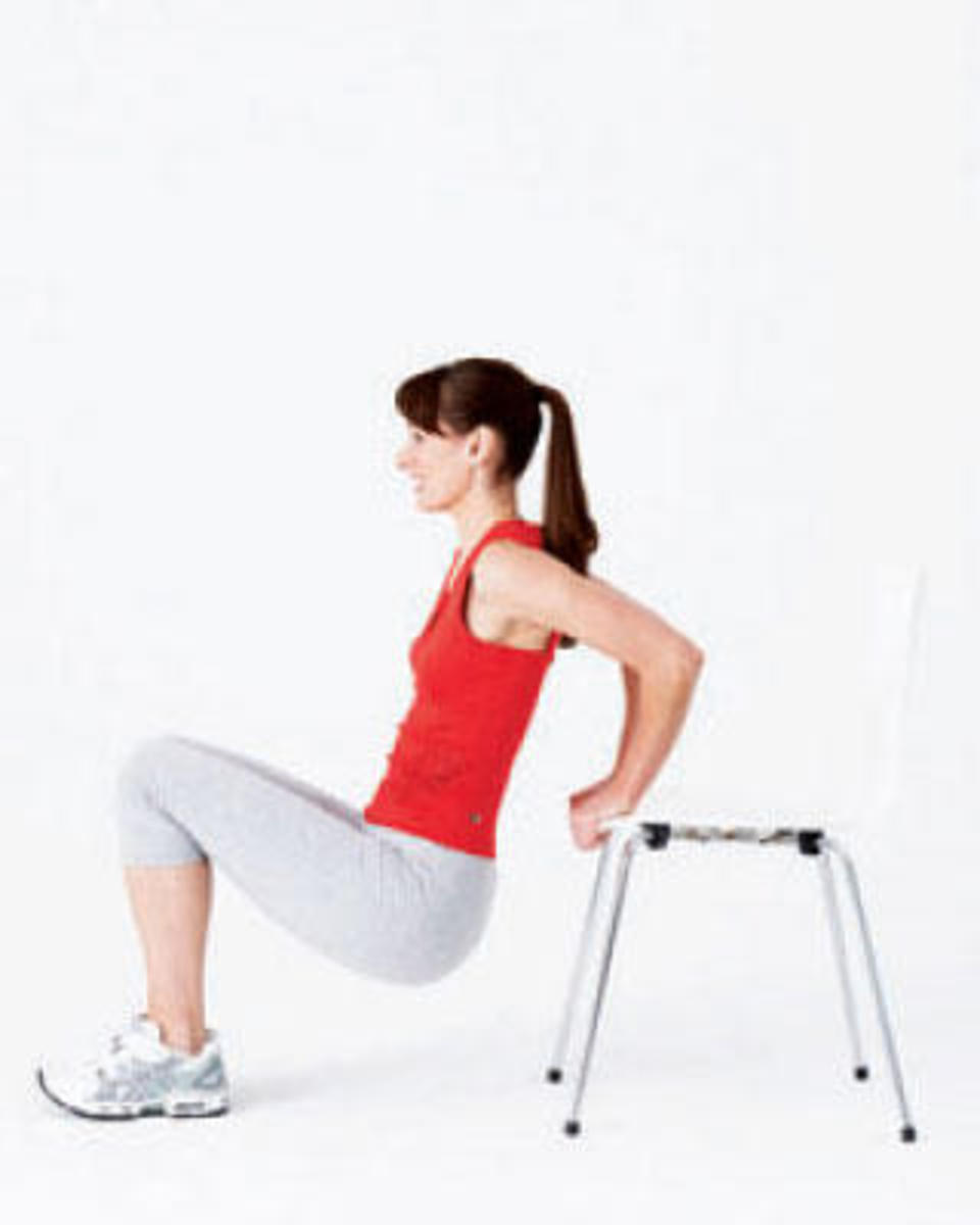 Tricep dip off chair