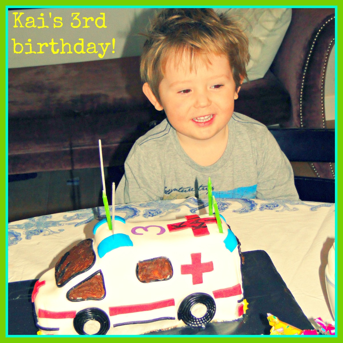 My miracle baby on his 3rd birthday.