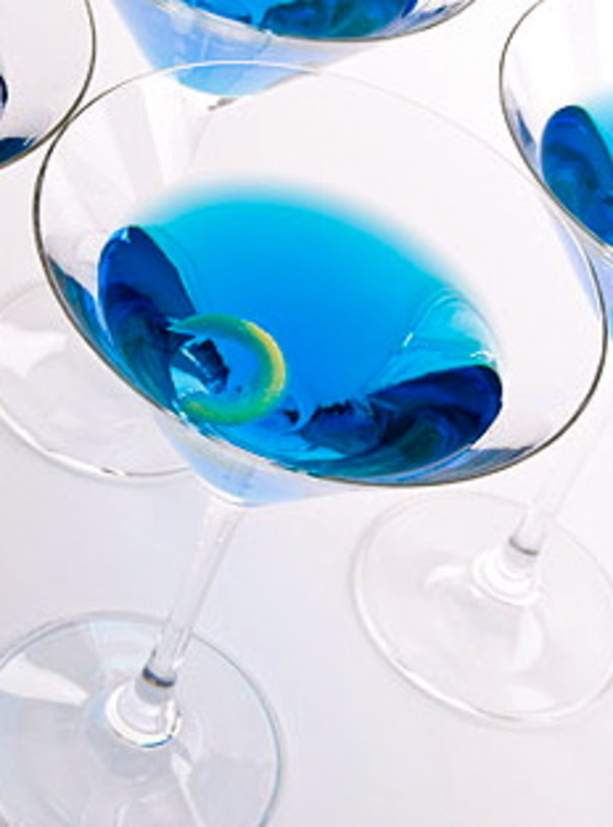 The Blue Lady is an elegant tipple