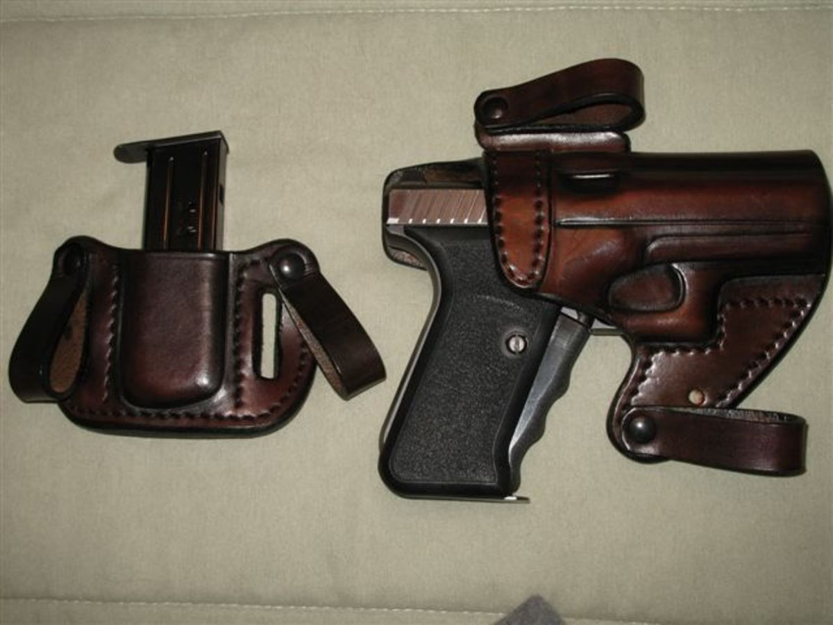 My H&K P7 in its FIST holster.