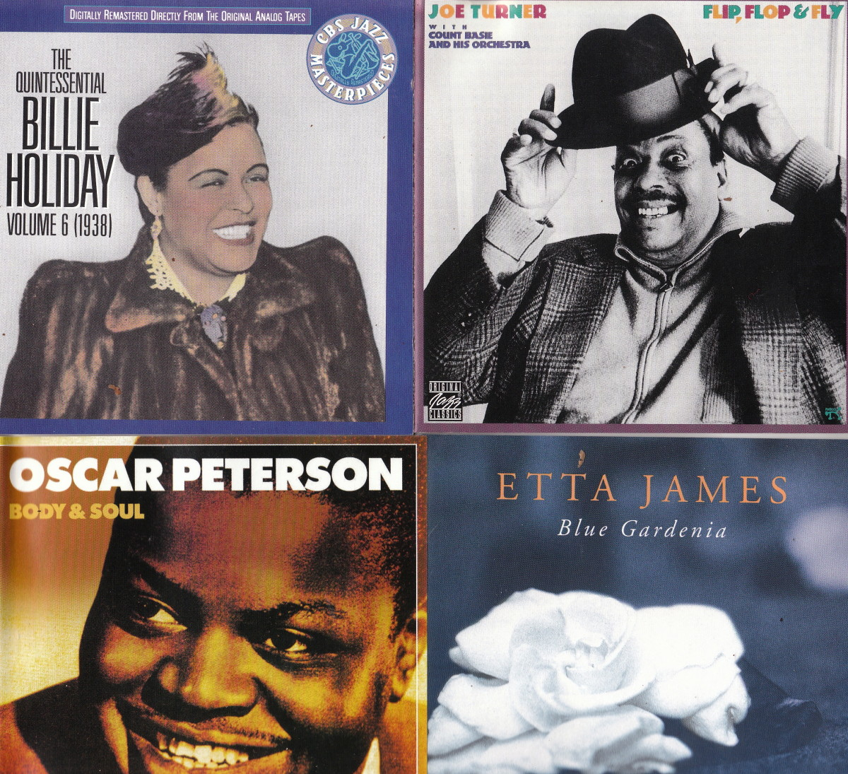 Clockwsie: Billie Holiday; Joe Turner; Oscar Peterson; Etta James