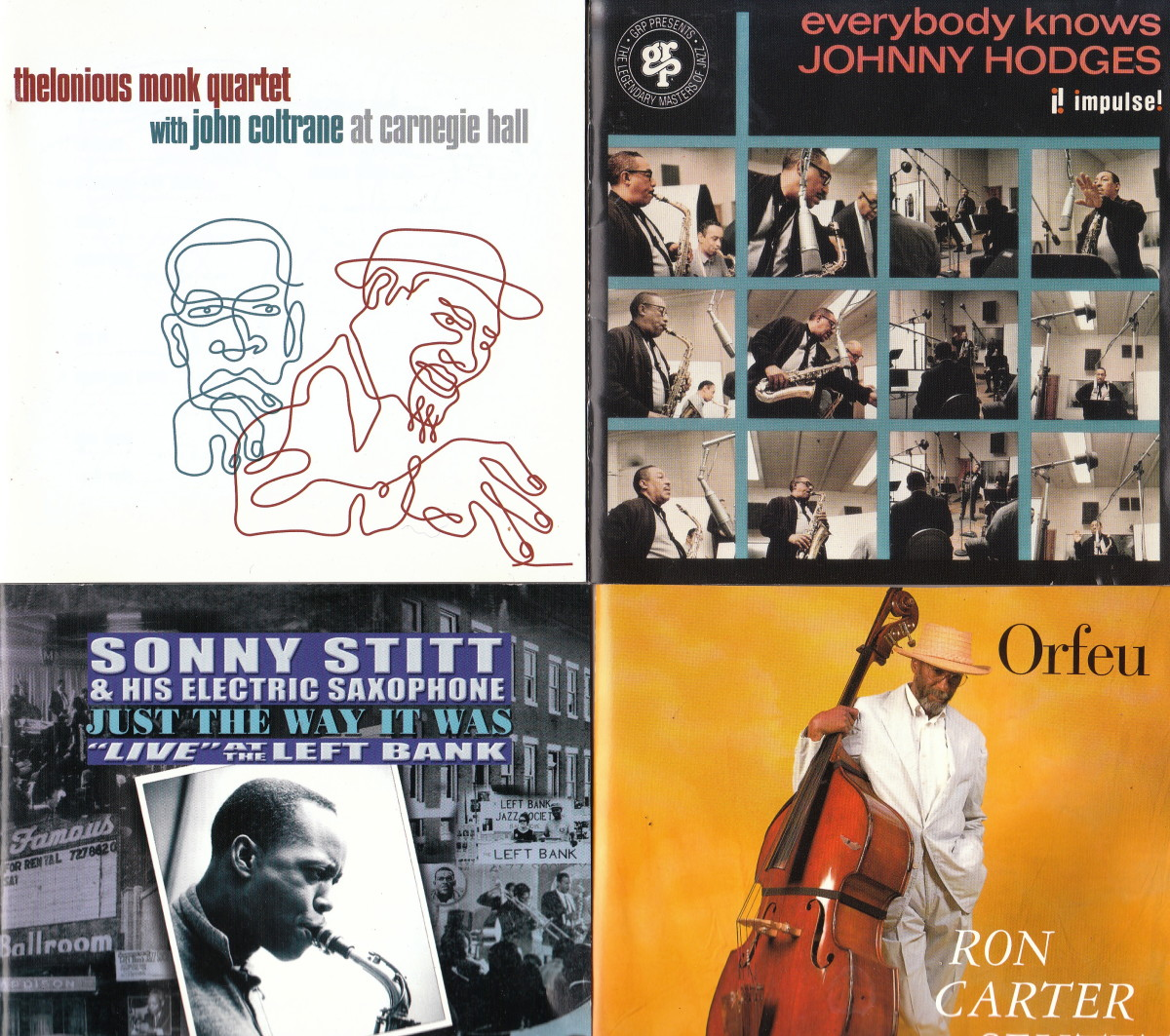 Left to Right: Thelonious Monk; Johnny Hodges; Sonny Stitt; Ron Carter