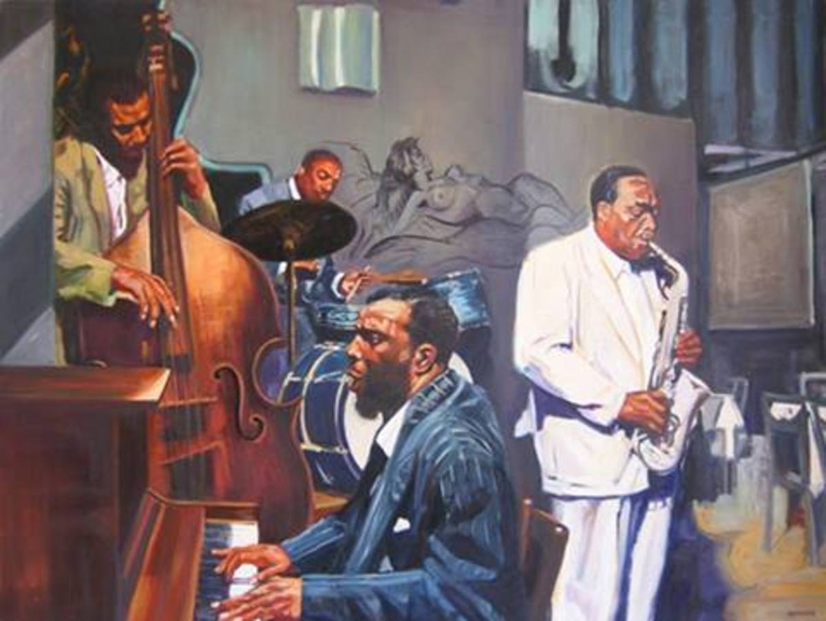 """The Great African-American Classical Art-Form""  Bird  The Open Door Quartet, artwork by Michael Symonds Saxophonist Charlie Parker was a virtuoso, whose music embodies the contradictions of the man. He demonstrated complete control of his horn."