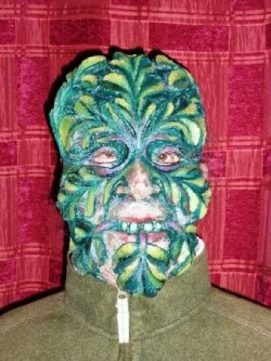Making A Green Man Mask