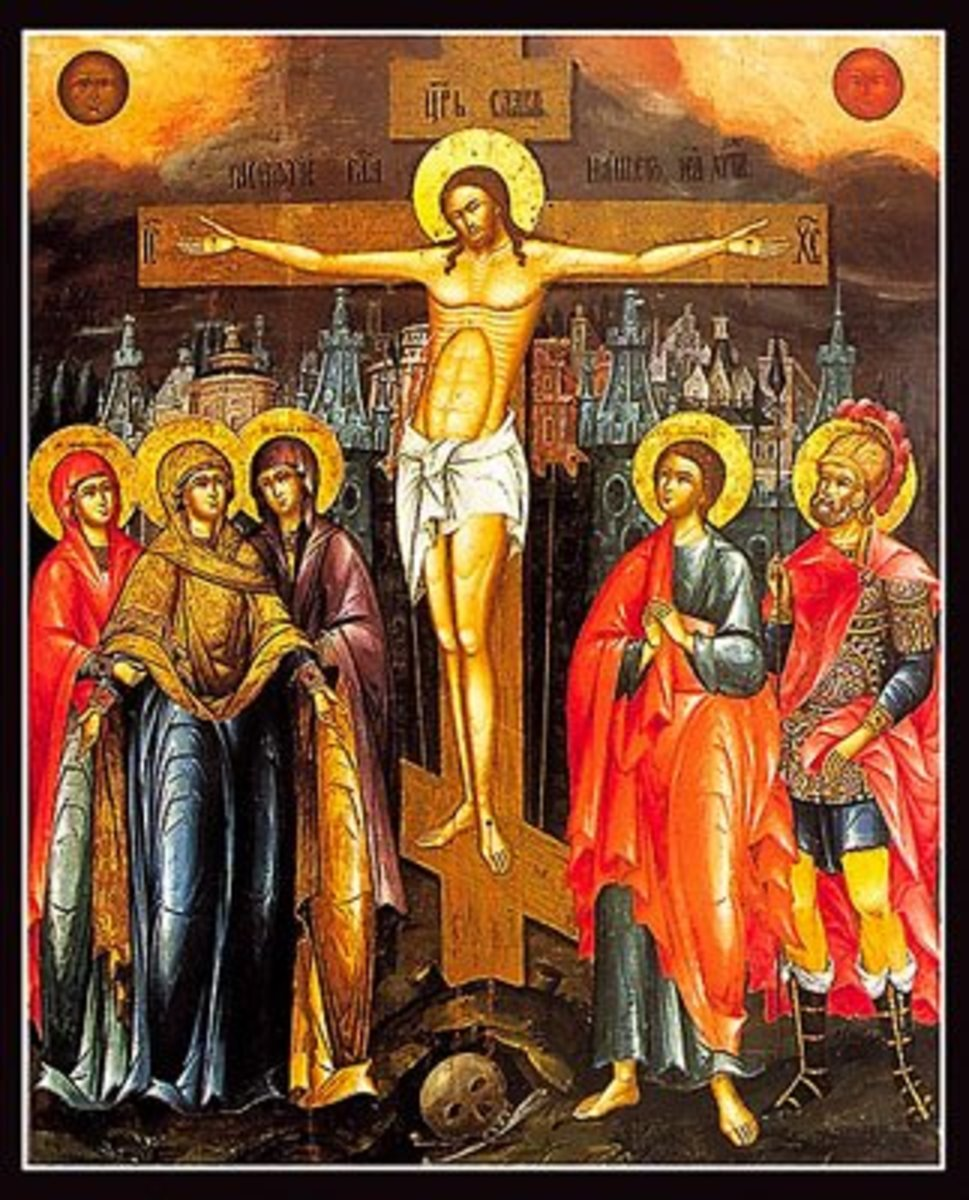 CHRIST ON THE CROSS ORTHODOX ICON