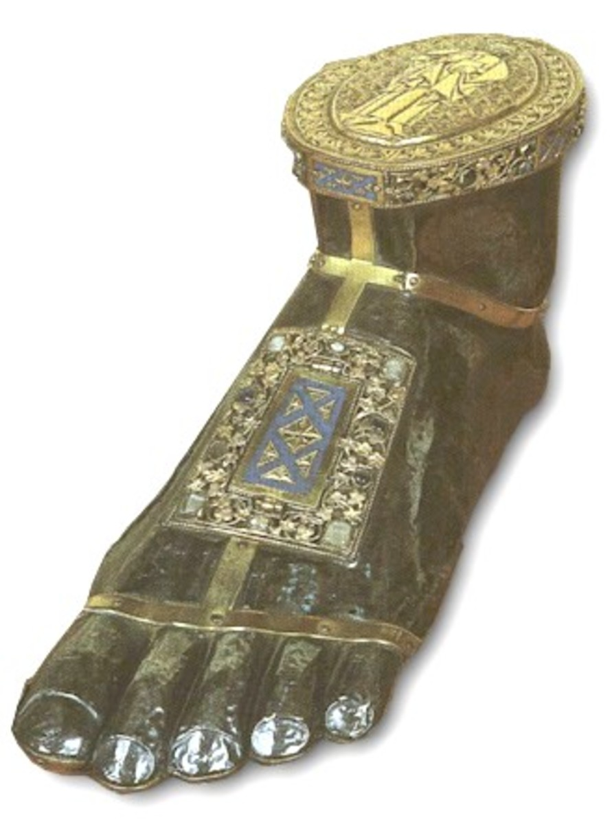 FOOT OF ST JAMES RELIC IN NAMUR, FRANCE