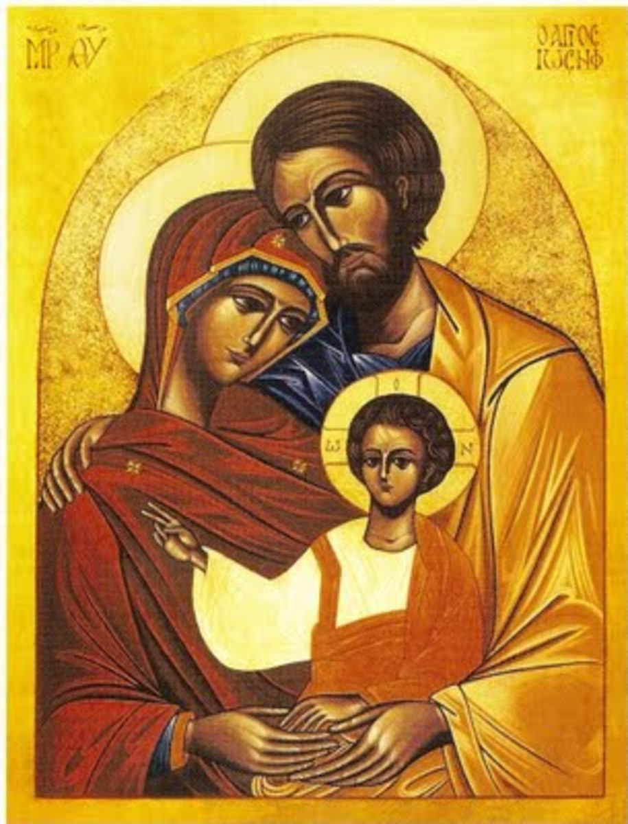 THE HOLY FAMILY ORTHODOX ICON