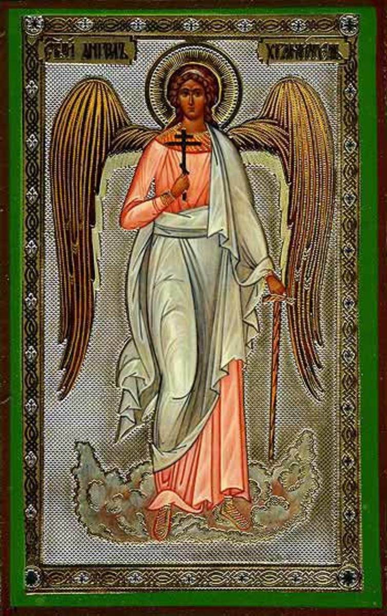 HOLY GUARDIAN ANGEL ORTHODOX ICON