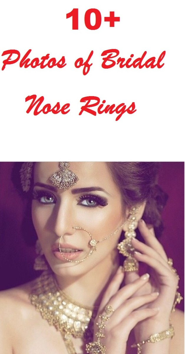 10 + photos of bridal nose rings for indian and Bangladeshi Brides