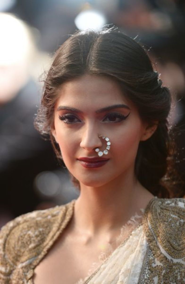 kundan nose jewellery