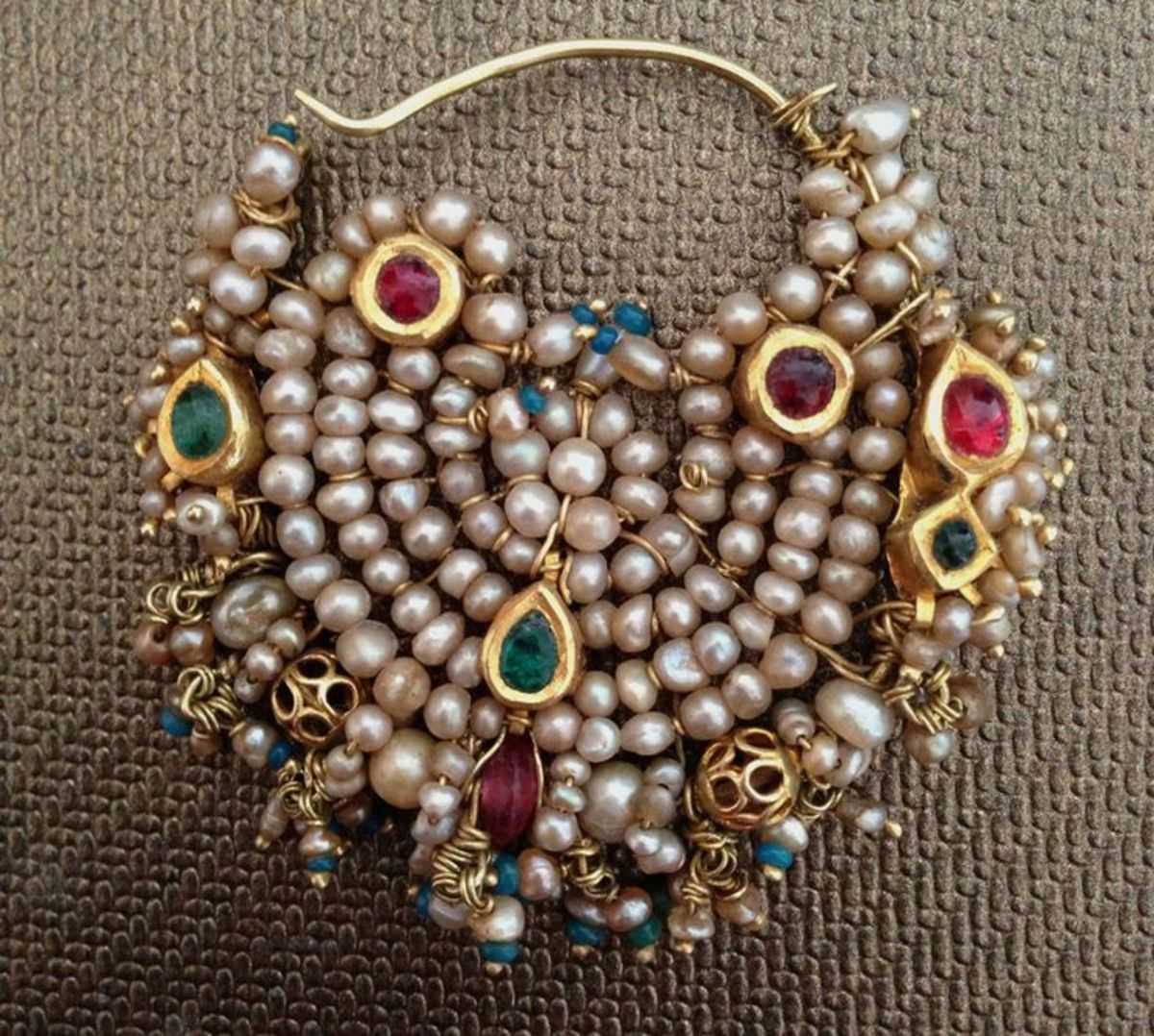 Jaipuri Nose ring design for brides