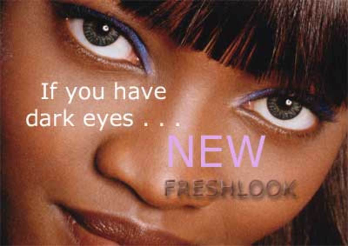 Change your look w/Grey Contacts (Best Colored Contacts ... |Blue Contacts On Black People