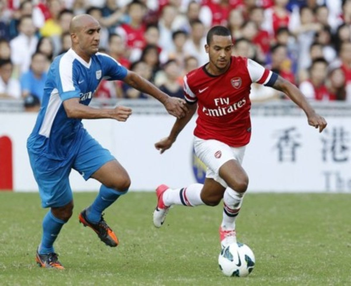 Watch Theo Walcott at the Emirates