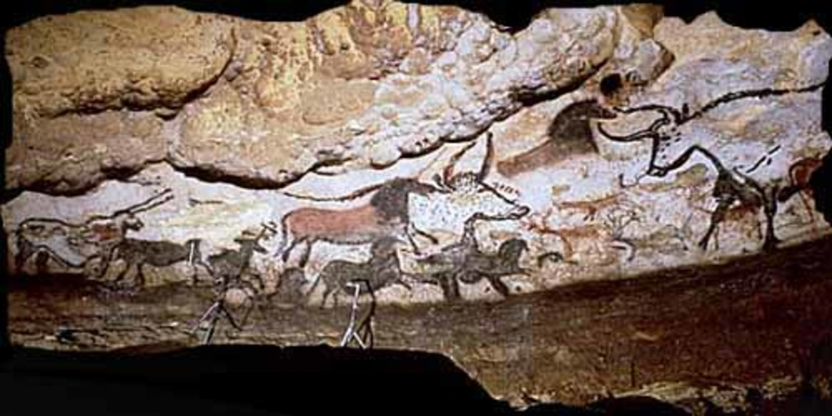 Cave paintings can also give valuable clues as to the culture and beliefs of that era.