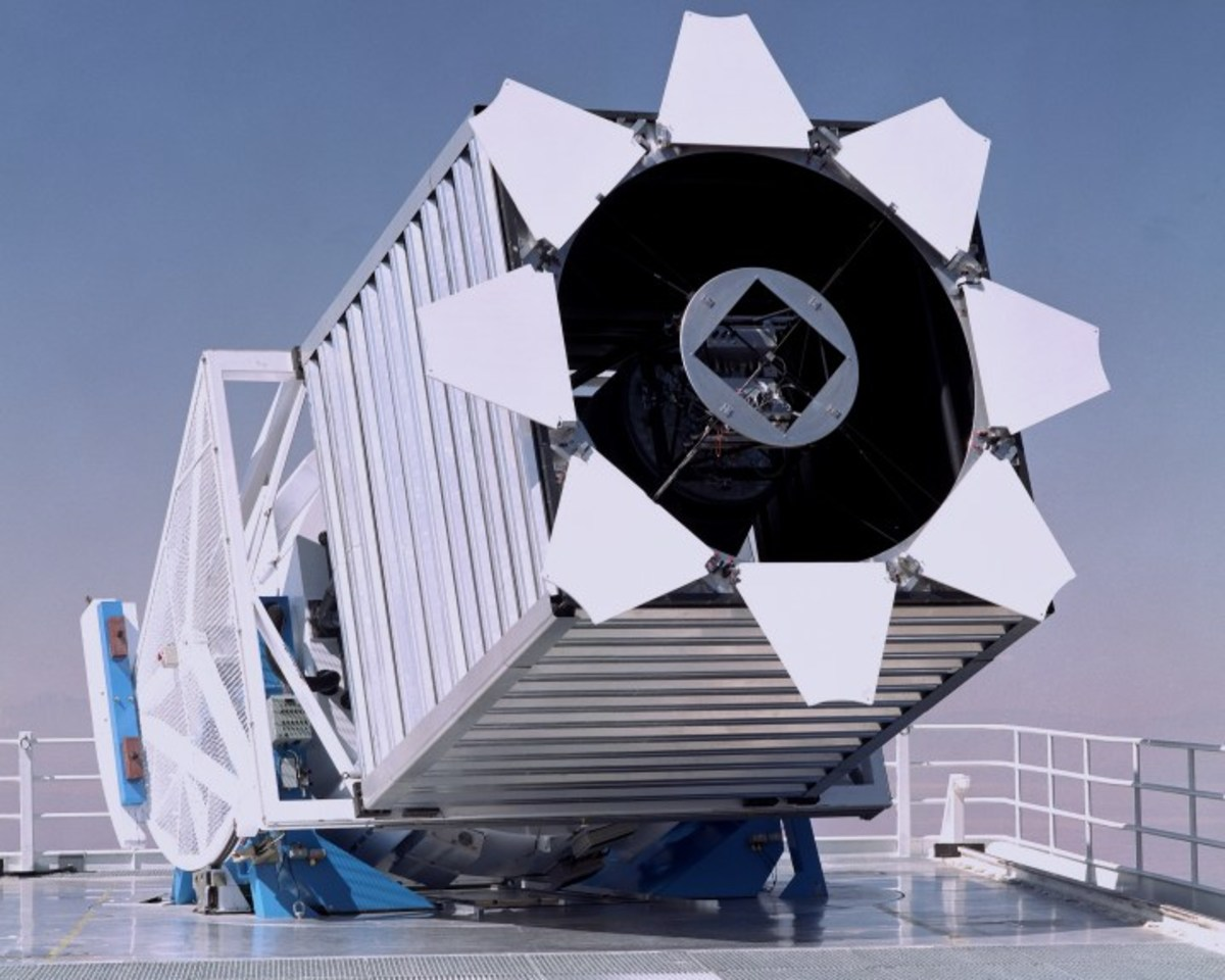 We describe the design, construction, and performance of the Sloan Digital Sky Survey telescope located at Apache Point Observatory. The telescope is a modified two-corrector Ritchey-Chrétien design with a 2.5 m, f/2.25 primary, a 1.08 m secondary, a