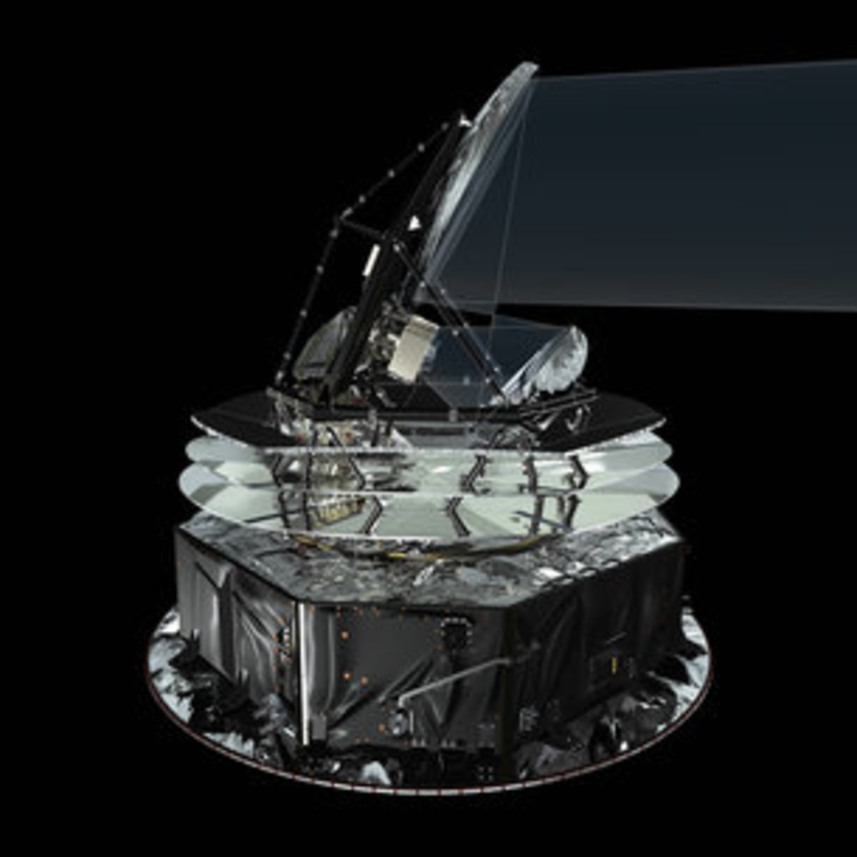 Planck satellite and telescope-It has been designed to be robust enough to withstand the 'shake-and-bake' stresses of launch, and the temperature difference between launch, when it is at an ambient temperature of about 300 K, and operation, at about