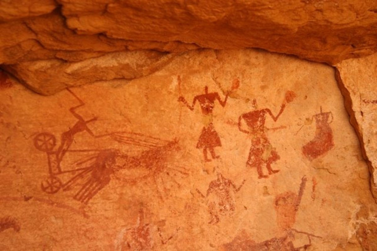 Sahara Desert's Magnificent Cave Paintings, and the oldest of these are more than a 100 centuries old