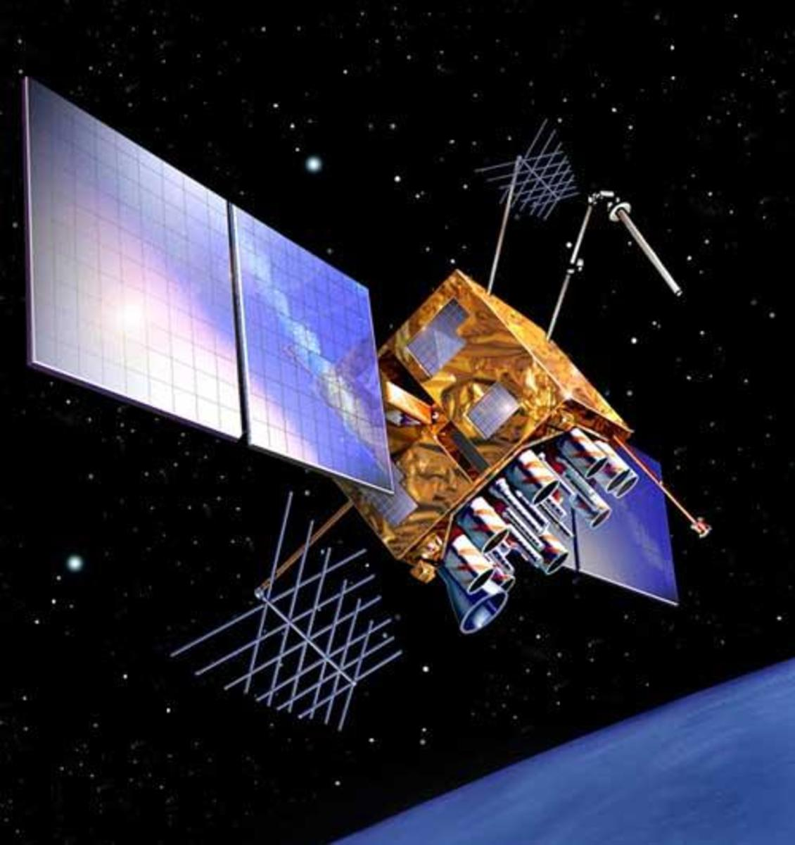 The new GPS IIR carries a beefed-up antenna panel, providing a stronger ssignal to ground users, as well as three entirely new signals. This new satellite will be useful to the army, aricraft and ships from being jammed; also useful for civilians