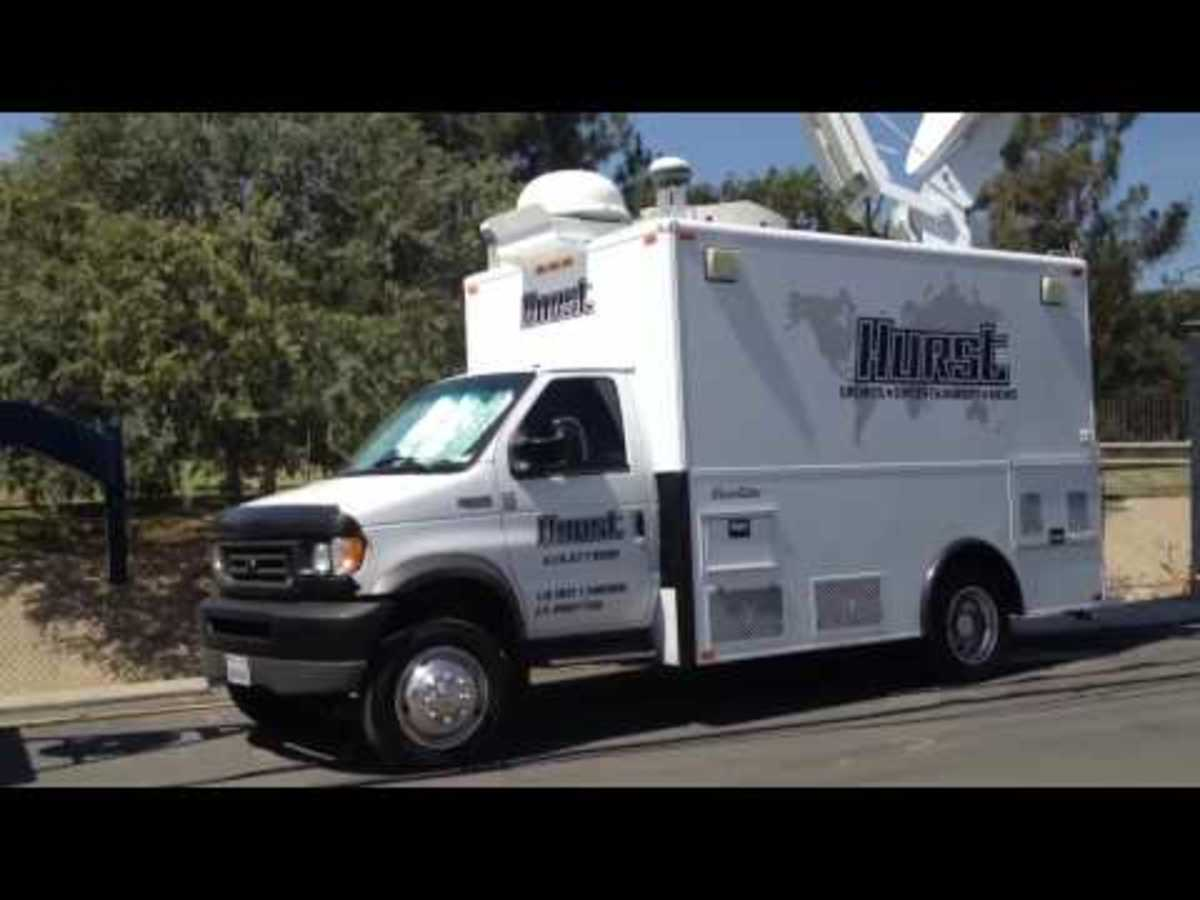 Hurst Satellite Up Link Trucks