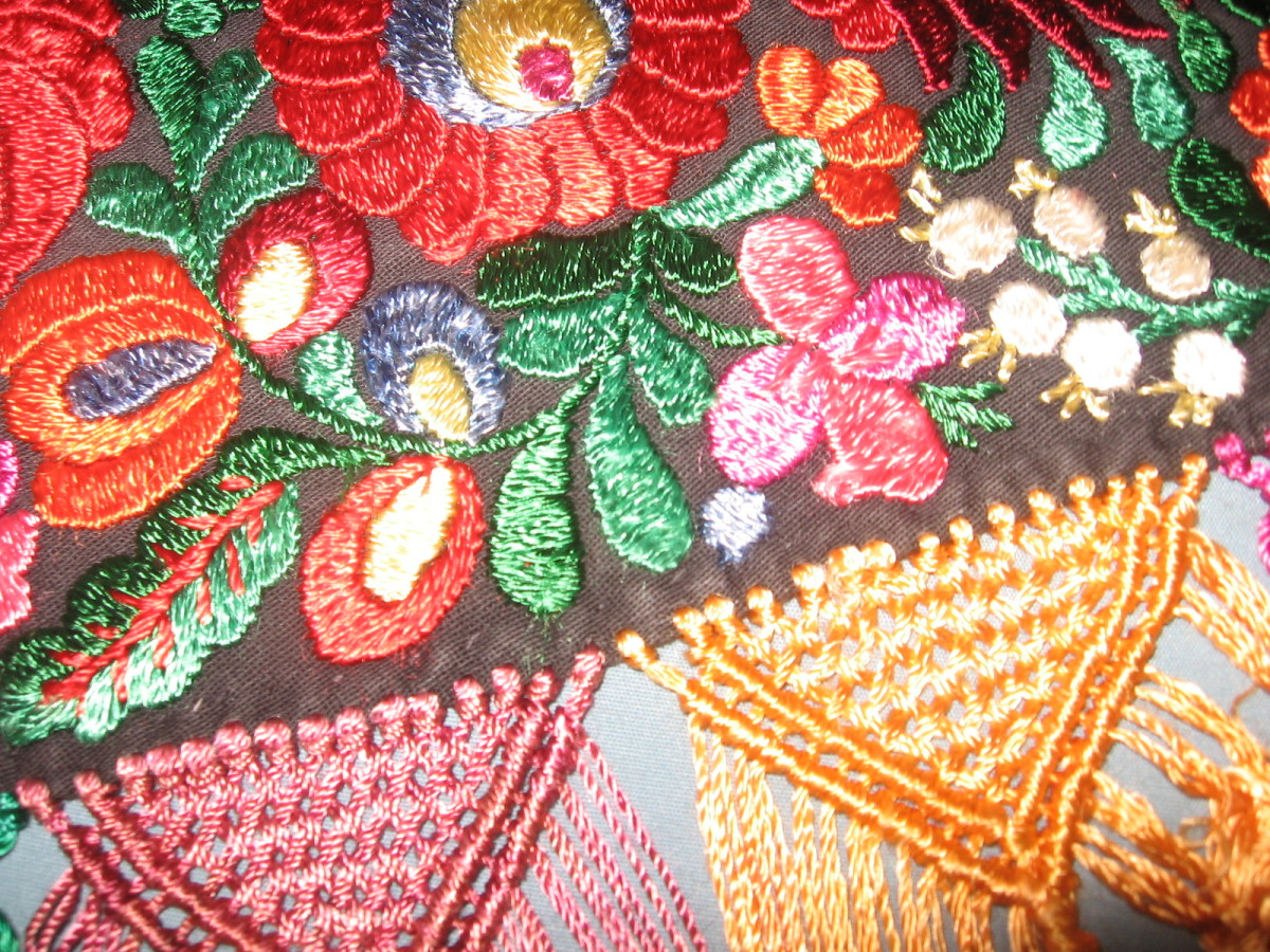 Close up of the pin-weave fringe (a total pain in the watoosy to make)