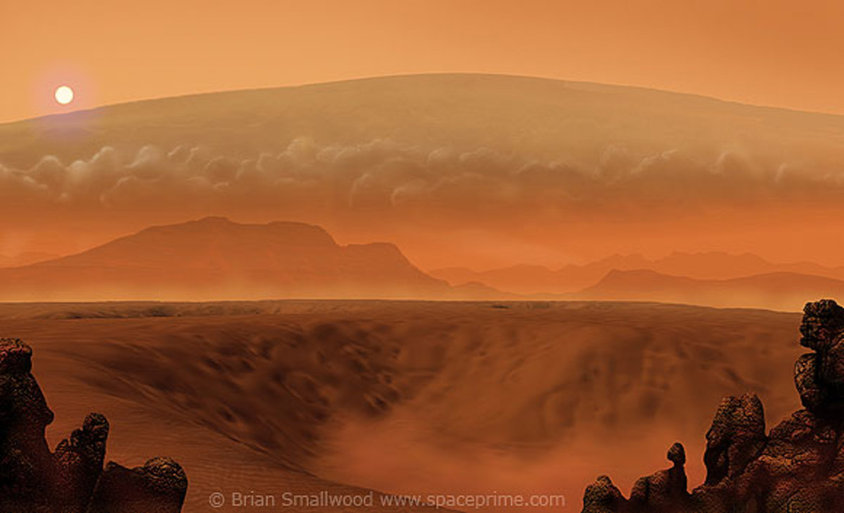 The tallest, largest Mountain & Volcano in the Solar System – Olympus Mons