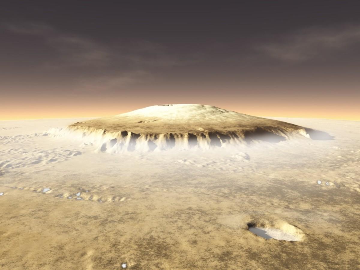 Foggy Olympus Mons