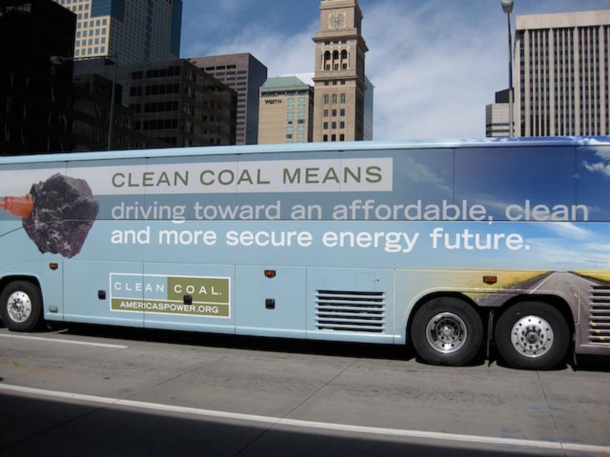 The CleanCoal Bus in Denver during the 2008 presidential campaign.