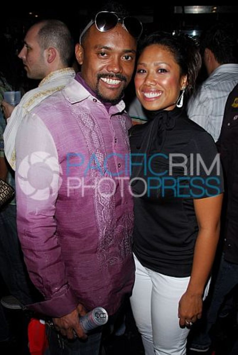 Apl De Ap with girlfriend Joanne and the Black-Eyed Peas