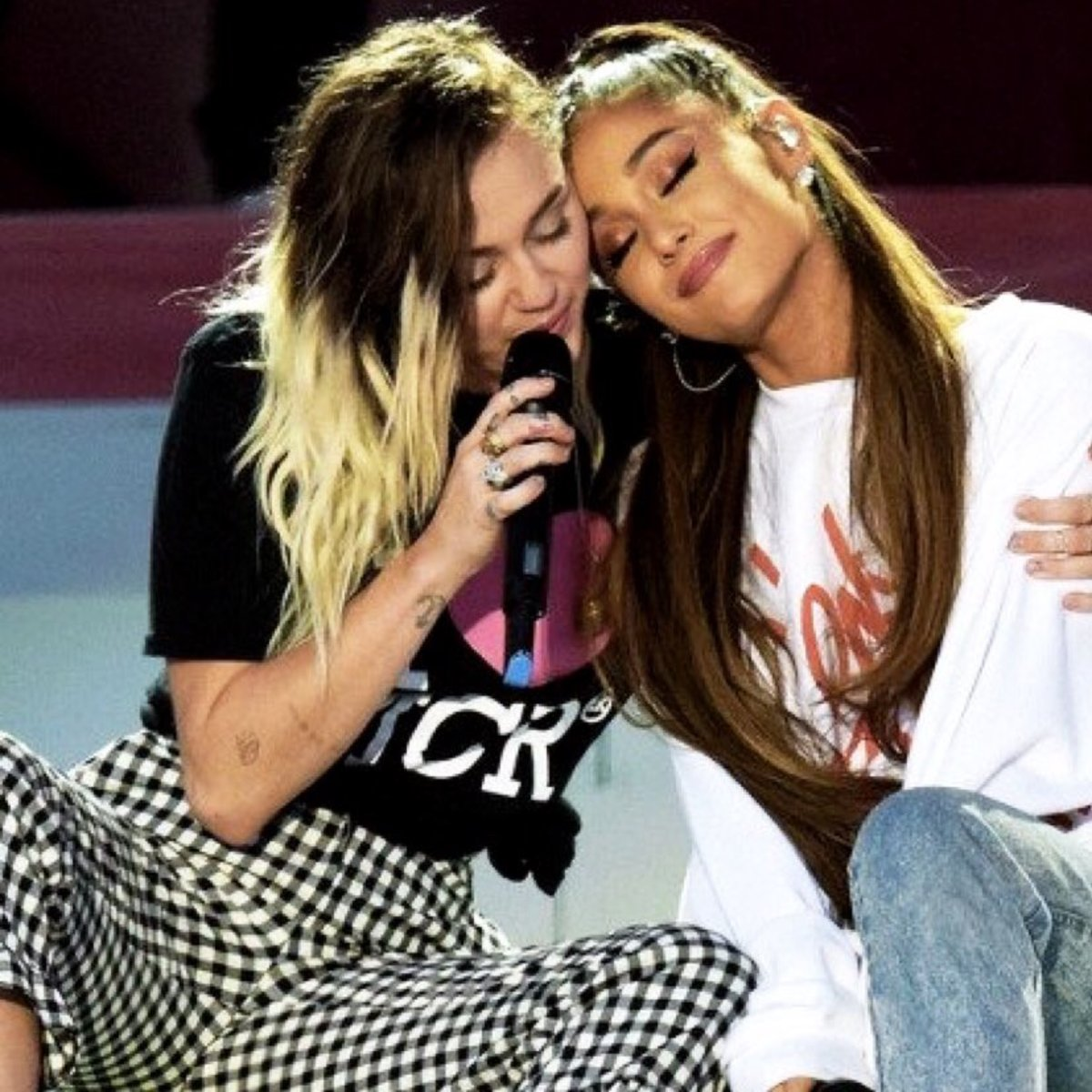 Miley and Ariana