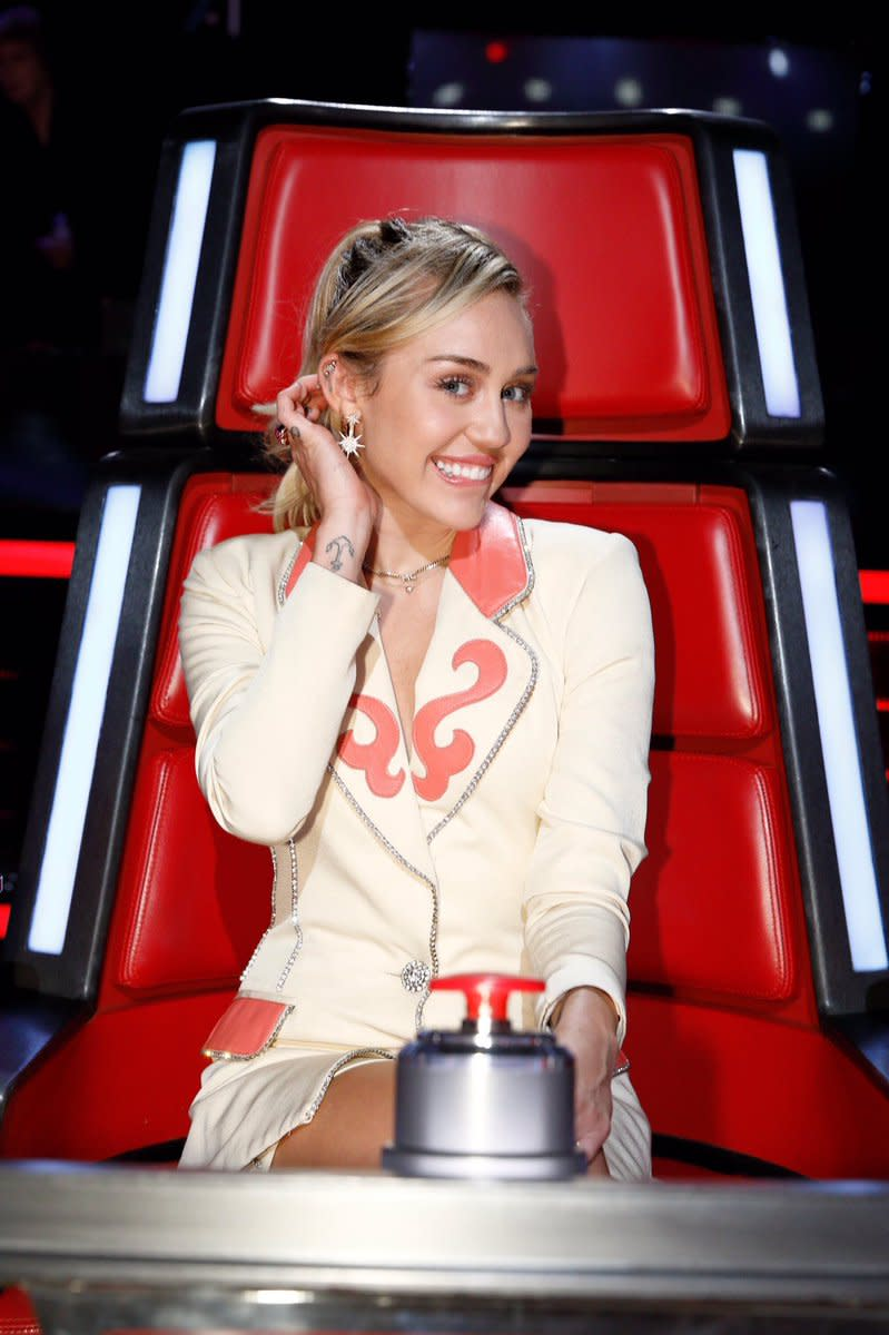 "Miley on the 13th season of ""The Voice"""