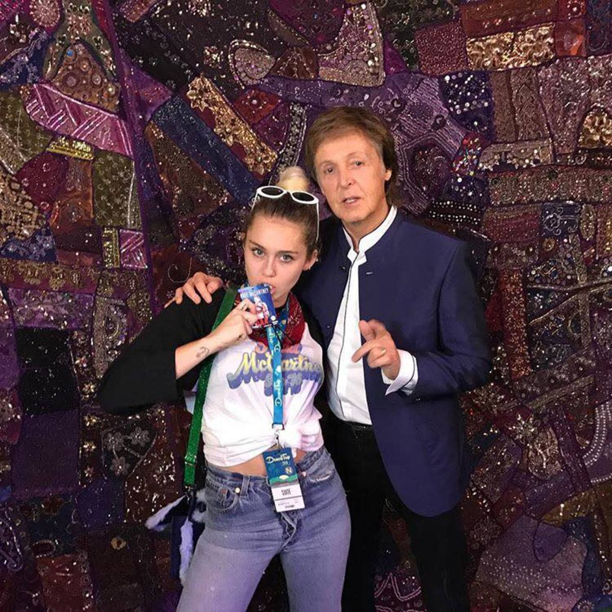 Miley and Sir Paul