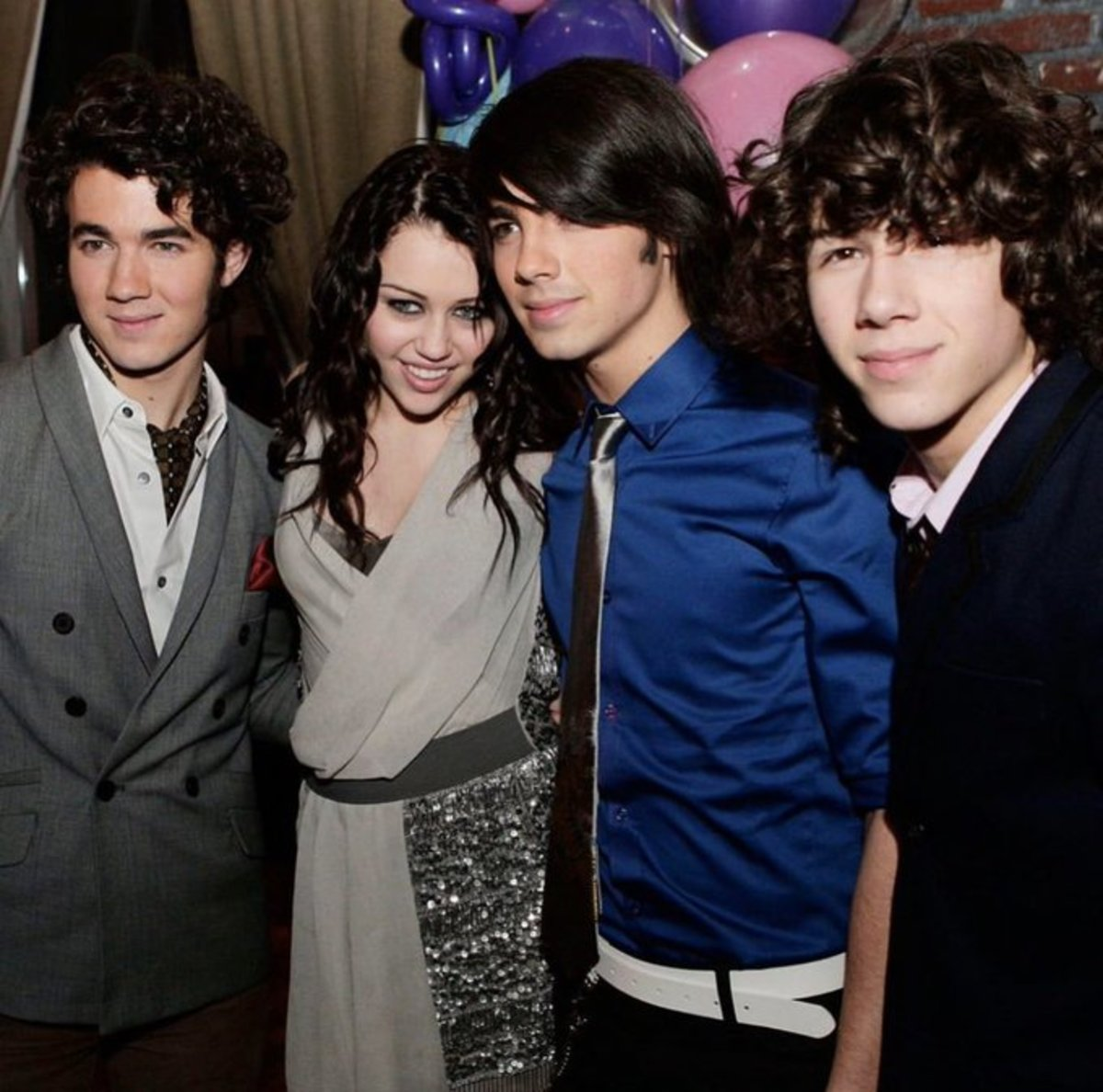 Miley at 15, with the Jonas Brothers