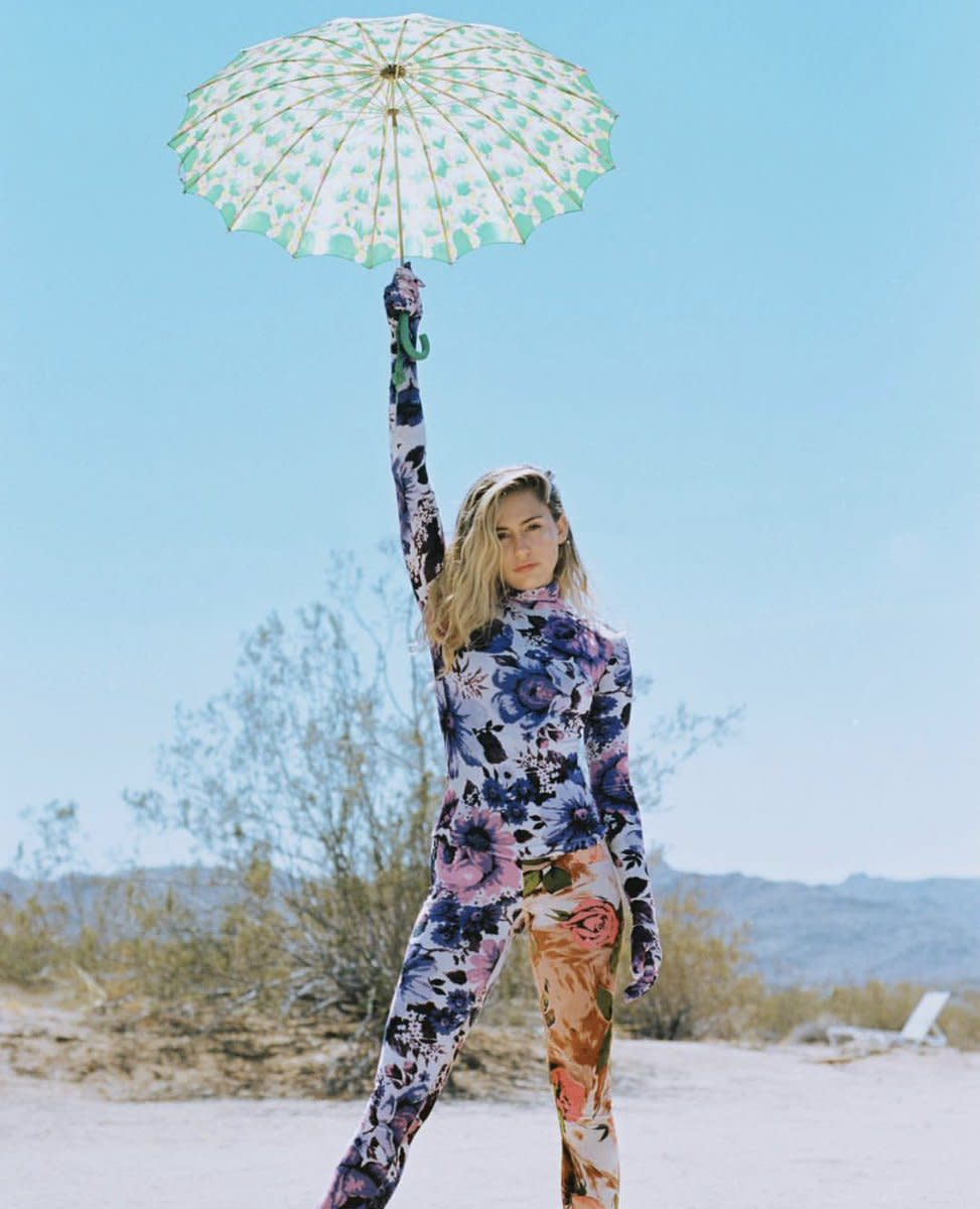 Miley in the desert
