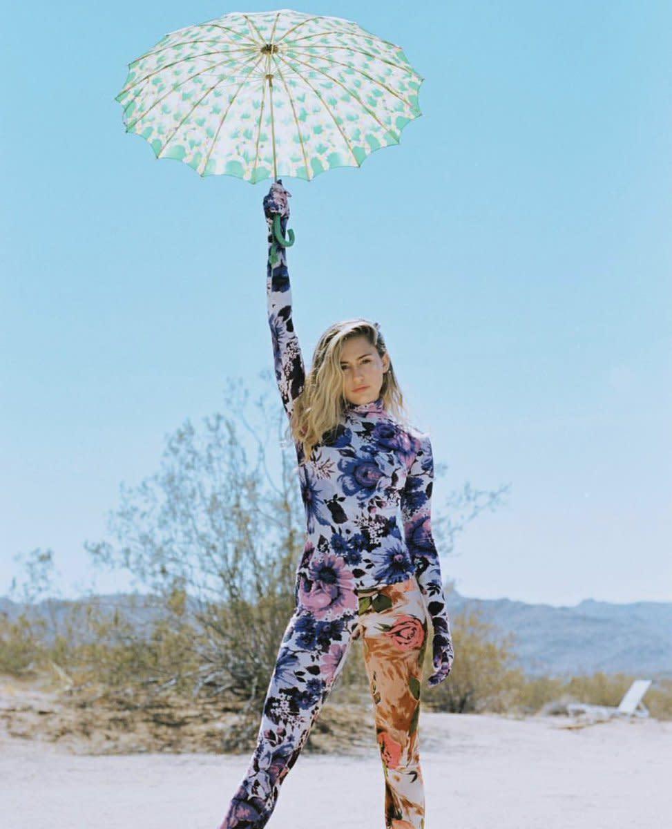 Miley in the desert