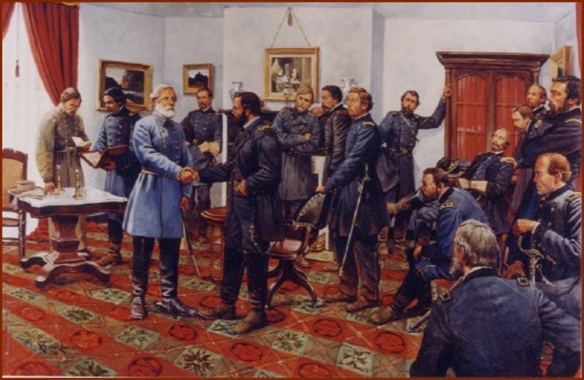 Confederate surrender to Union in Appomattox