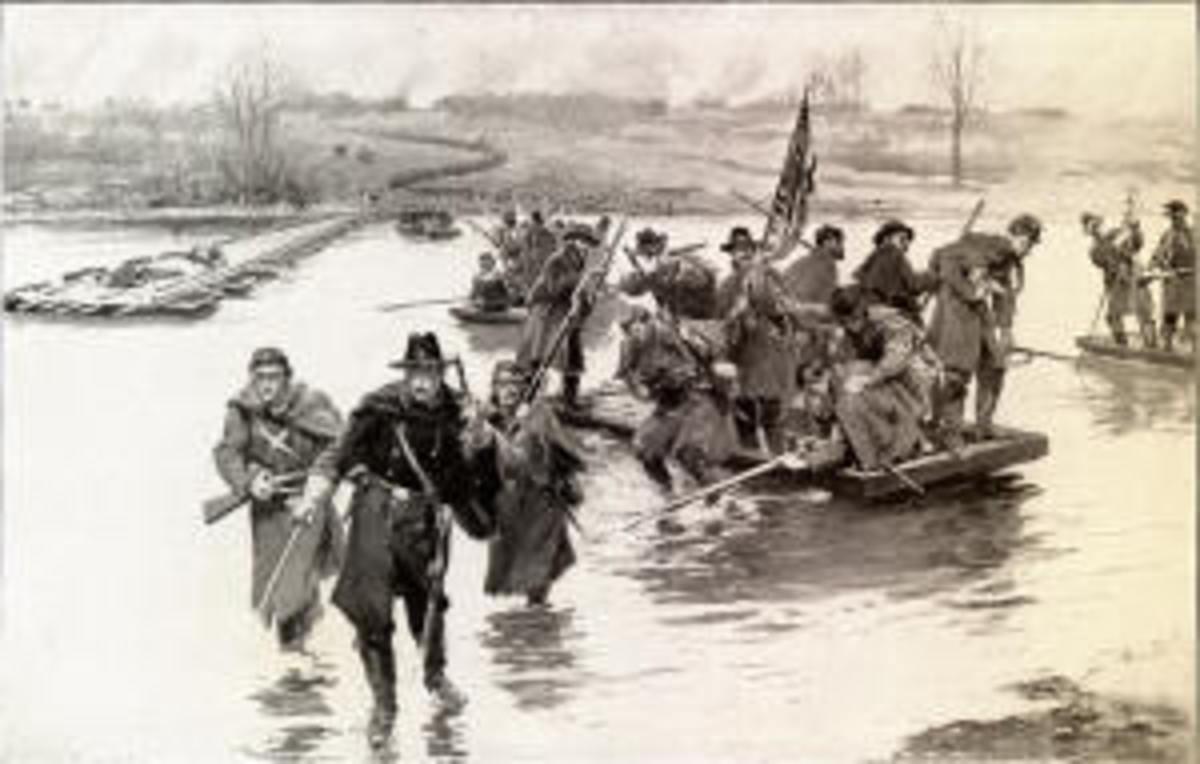 "The Battle of Fredericksburg"" Volunteers Crossing the River"