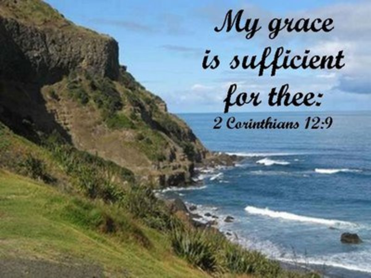 2Co 12:9  And he said unto me, My grace is sufficient for thee: for my strength is made perfect in weakness. Most gladly therefore will I rather glory in my infirmities, that the power of Christ may rest upon me.
