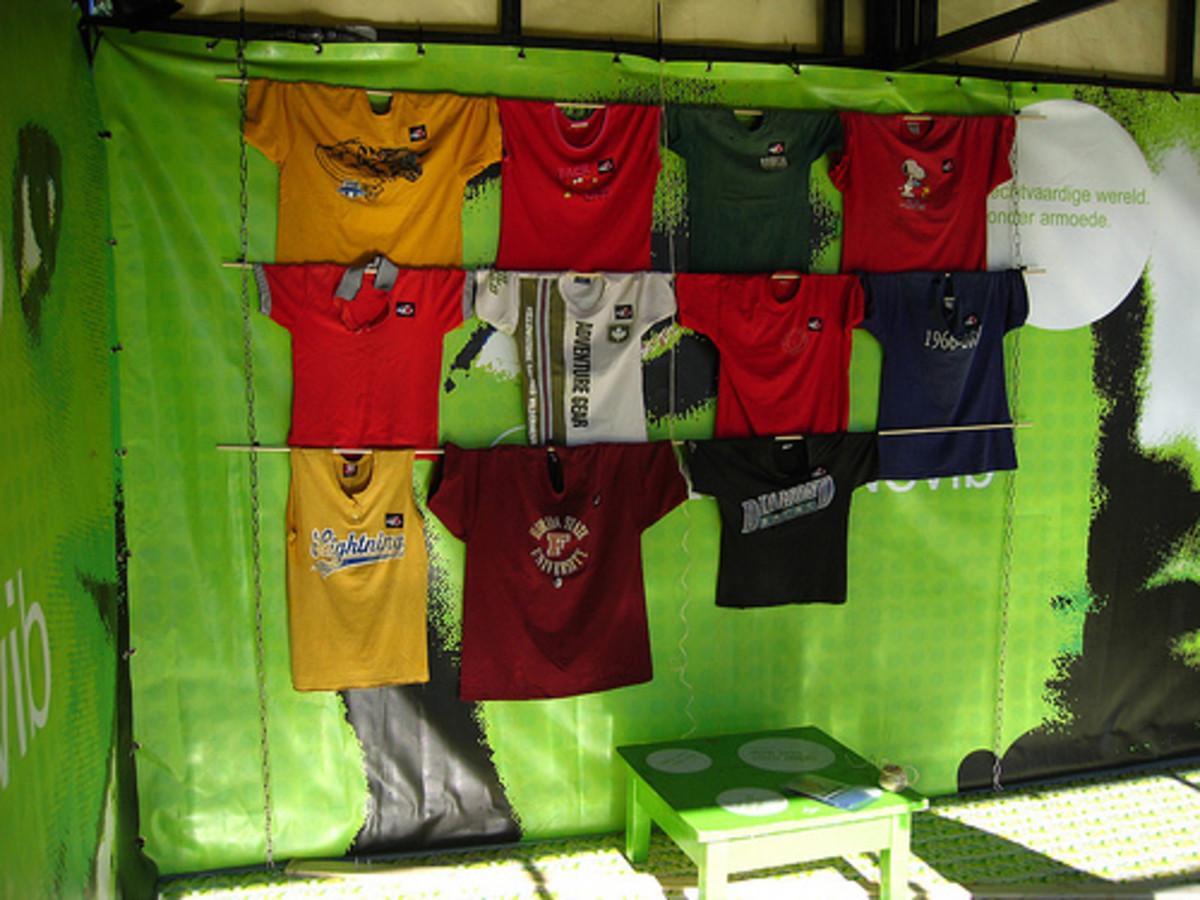 Tee Shirts displayed
