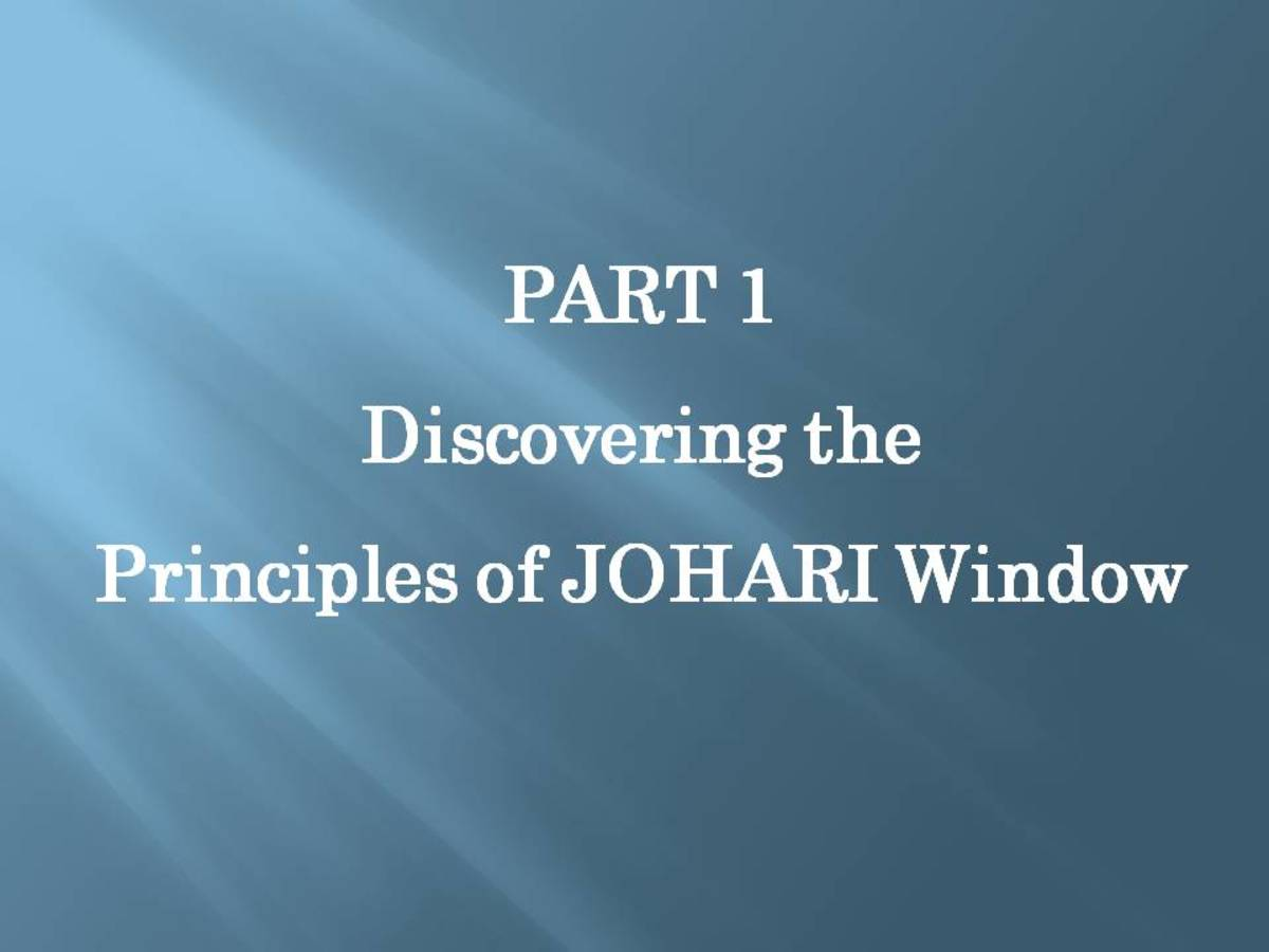 JOHARI WINDOW: A Guide to Personal and Career Life - Part 1