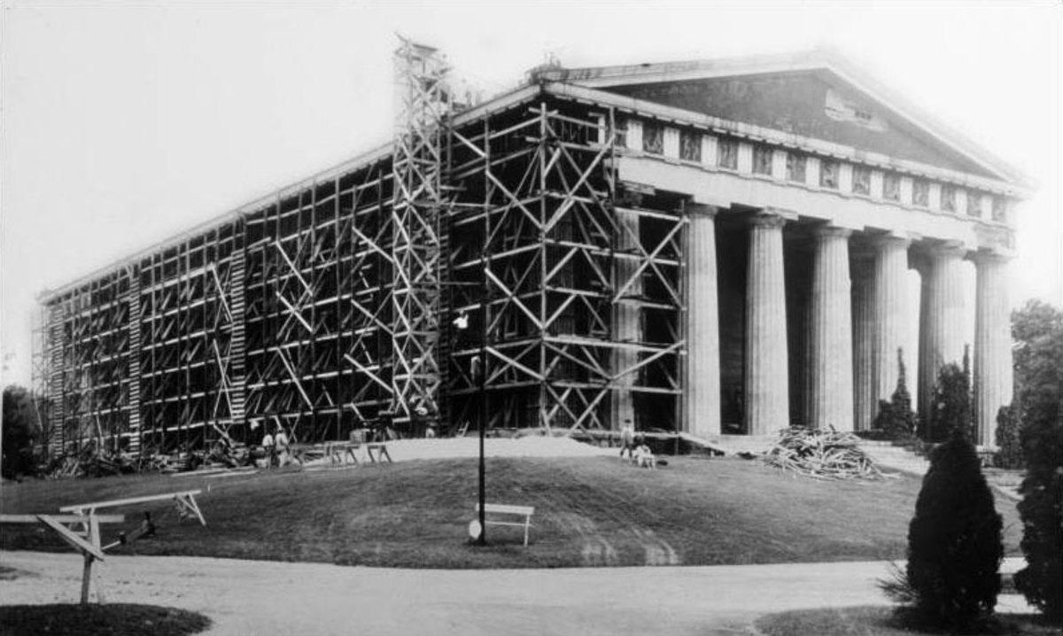 Parthenon in 1920.