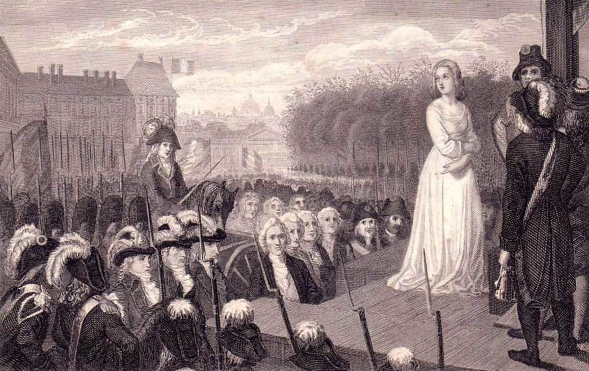 Marie Antoinette's execution.