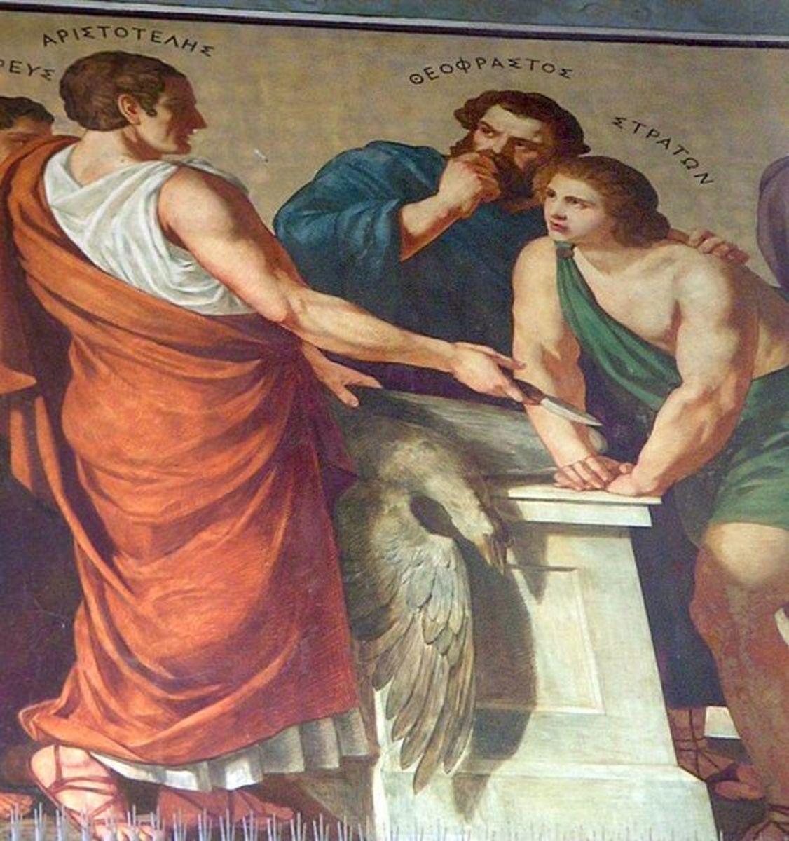Theophrastus and Aristotle