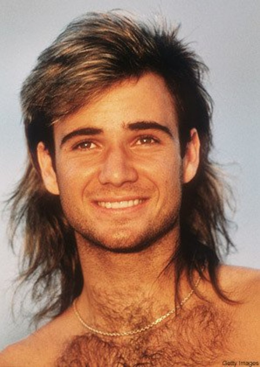 Agassi admitted in his book that he wore a piece. Agassi later went with the clean shaven head.
