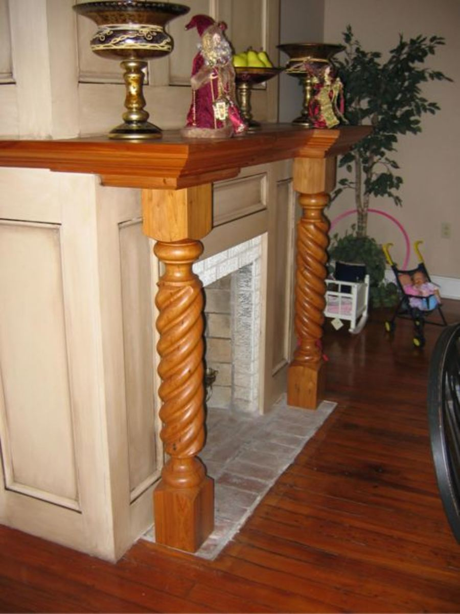 Barley Twisted column Mantel Surround