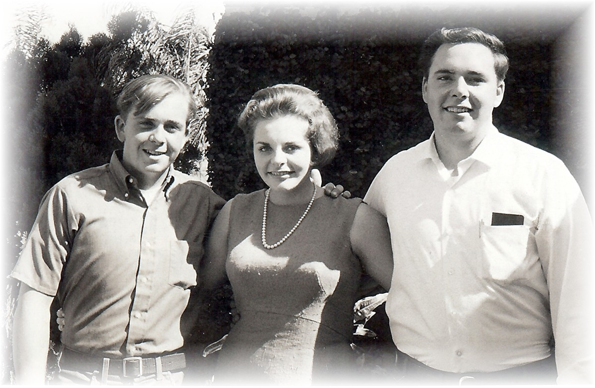 My brothers and me in the heyday of the twist era...1960's